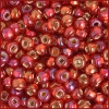 Seedbead 2/0 Transparent Red Silver Lined Aurora Borealis